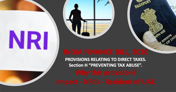India Finance Bill, 2020 - Provisions relating to Direct Taxes, Section H