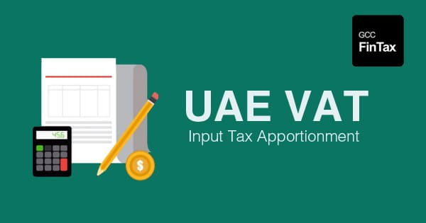 UAE VAT : How Input Tax Apportionment works