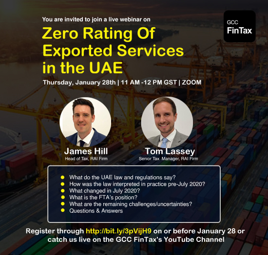 Zero rating of exported services in the UAE